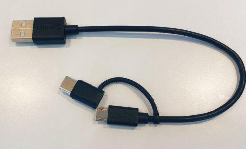 USBタイプA to microUSB+USBタイプC変換コネクター